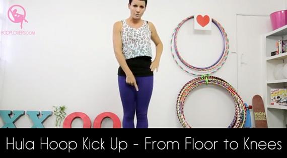 Hula Hoop Kick Up – From Floor to Knees