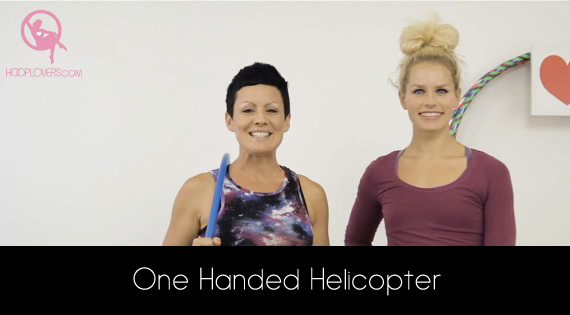 Lisa Lottie shows how to do One Handed Helicopter