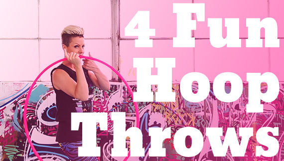 4 fun throws with hula hoop