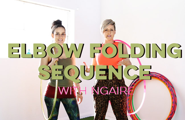 Elbow Folding Sequence Hoopdance with Ngaire