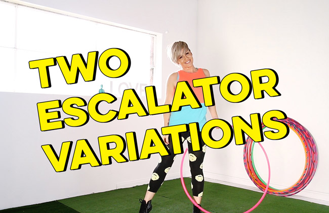 Two Reverse Escalator Variations for Beginner Hoopers