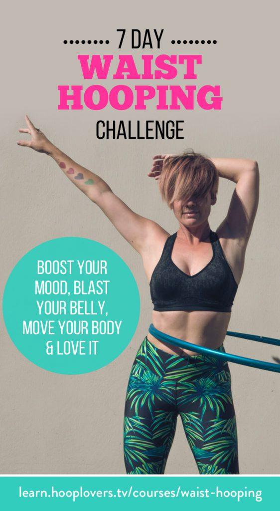 7 Day Waist Hula Hoop Fitness Challenge