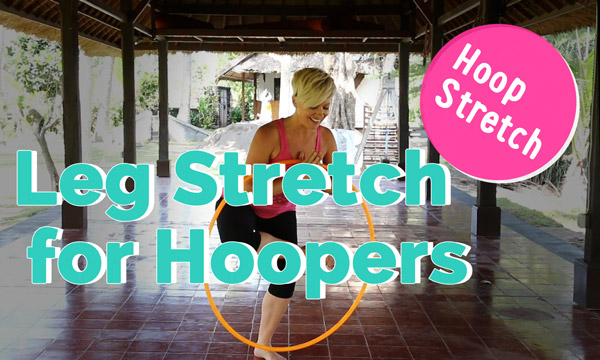 Hula Hoop Stretch for legs