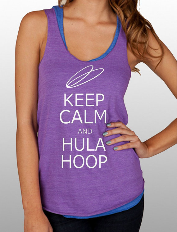 keep calm and hula hoop