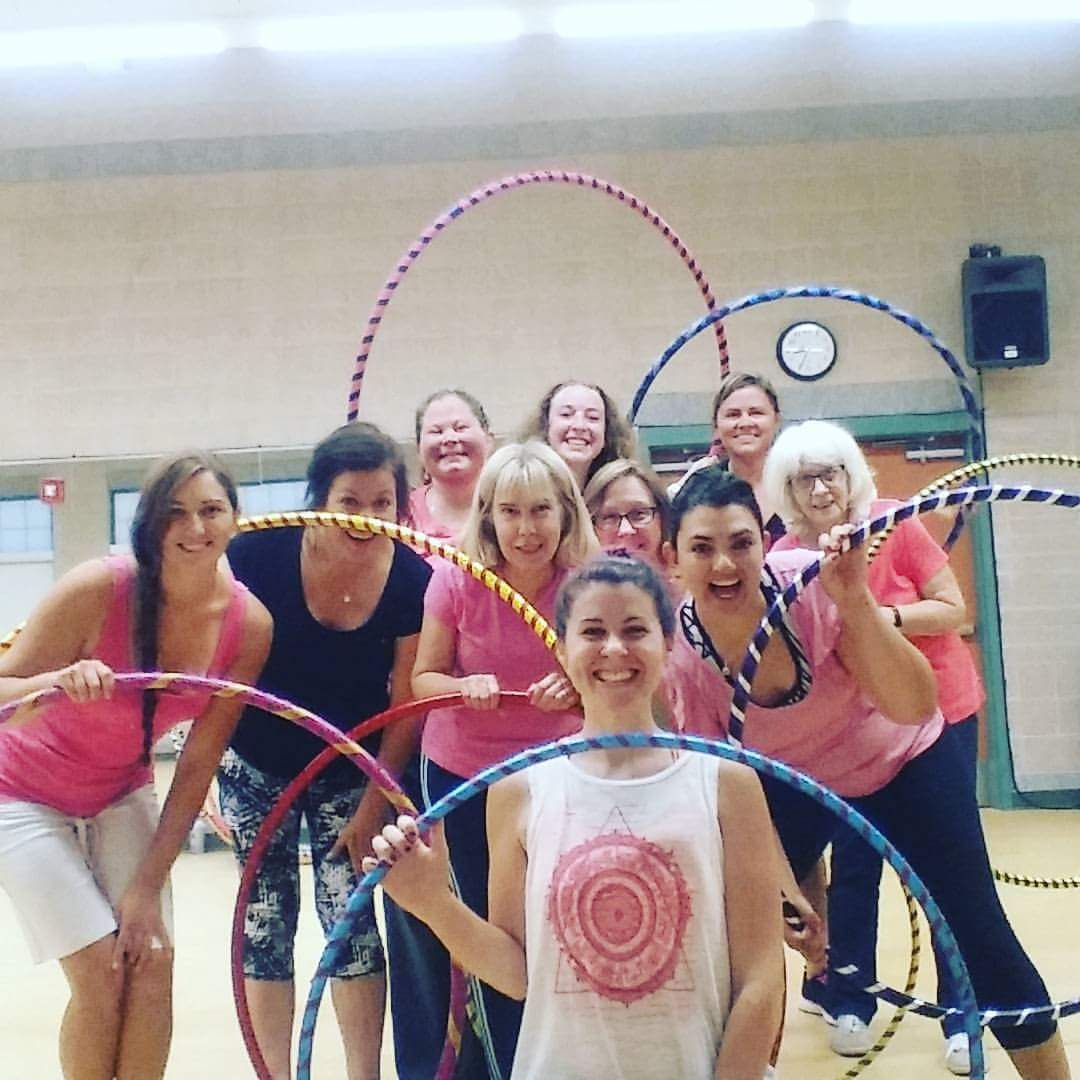 Weekly hula hoop classes