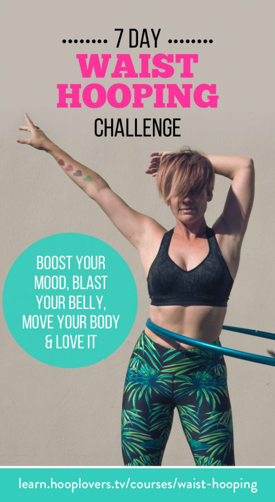 Free7 Day Waist Hula Hoop Fitness Challenge for Total beginner Hoopers