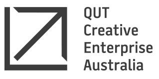 QUT Creative Enterprise Australia Logo