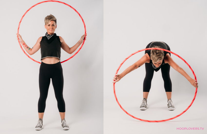 Hula Hoop Warmup Body Fold and Arm Stretch