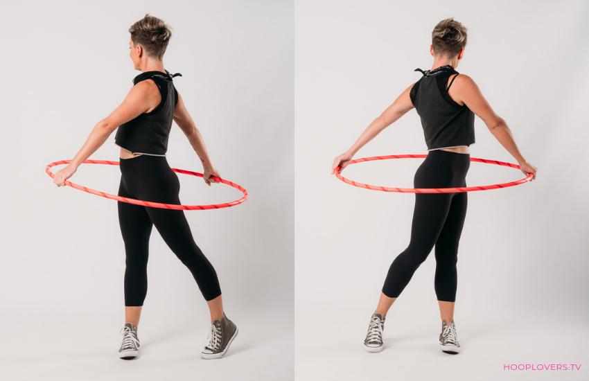 Twist Your body with a hulahoop to stretch